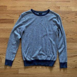 Men's J Crew Cotton Blend Crewneck Striped Sweater